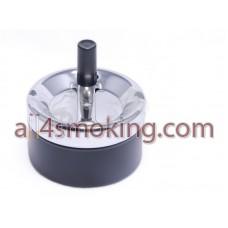 Scrumiera rotunda metalica neagra